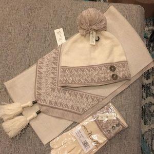 Accessories - Scarf Gloves Hat Set